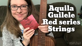 Guitarlele String comparison- Aquila Guilele Red Series 153c review