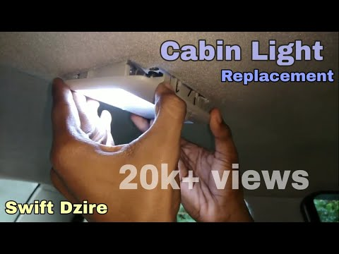 Swift dzire Dome light / Cabin lamp changing (link in description)