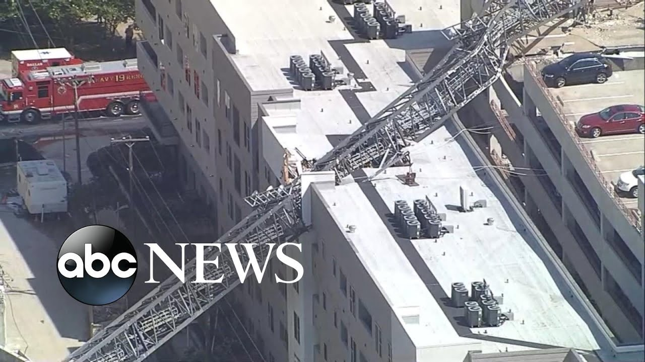Crane collapses onto Dallas apartment building killing 1 person