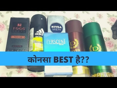 top 5 best perfumes for men in india | denver deo, nivea deo, fogg scent, adidas deo review hindi