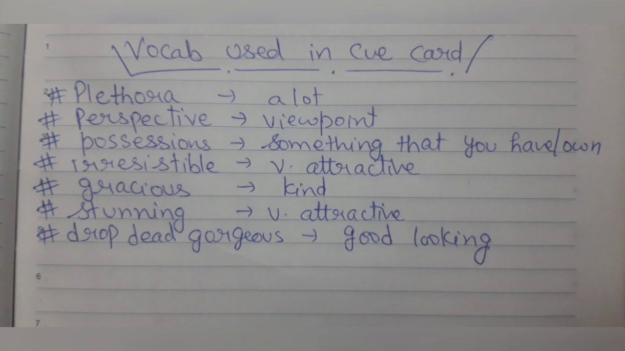 Describe a person you have seen/met who is beautiful or handsome (new cue  card)