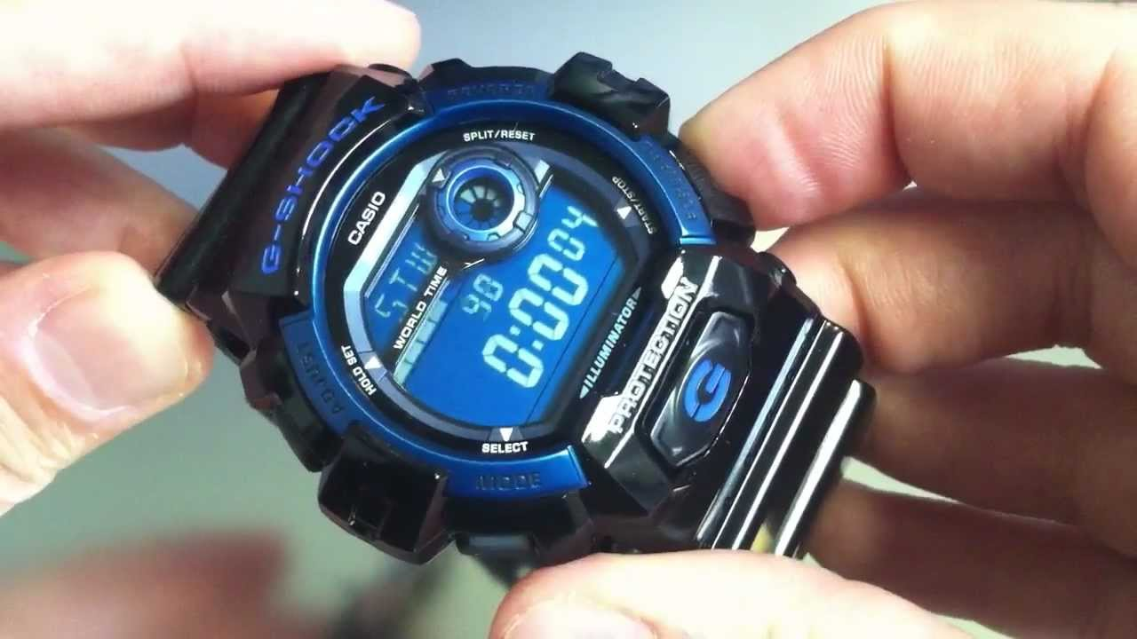 new style e6ea6 d80f3 Black Casio G-Shock World Time Watch G8900A-1