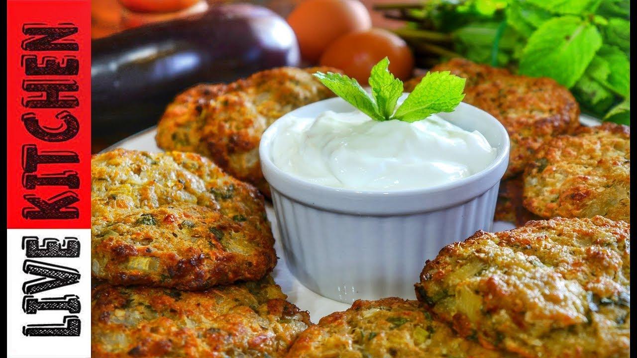 """Μελιτζανοκεφτέδες φούρνου """"Tύφλα να έχει το κρέας"""" - The best Eggplant Patties- Live Kitchen"""