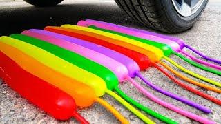 Crushing Crunchy \u0026 Soft Things by Car! Experiment Car vs M\u0026M'S, Candy toys