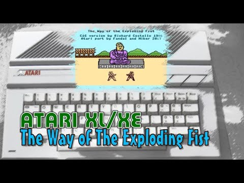 Atari XL/XE -=The Way of The Exploding Fist=- new game