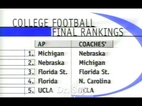 1998 Rose Bowl Michigan and The Polls