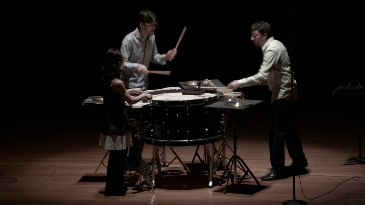 "Zivkovic: ""Meccanico"" from Trio per uno for Percussion Trio, Op. 27"