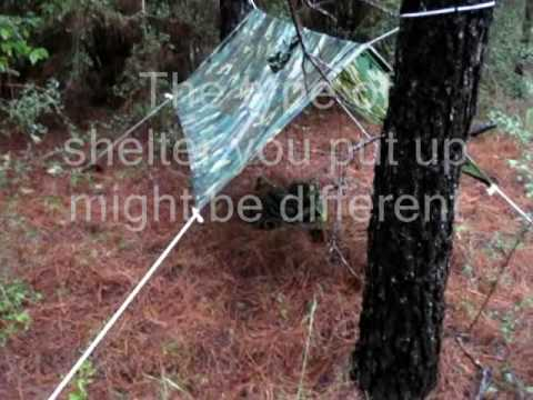 Wilderness Survival Rain Poncho as a Shelter