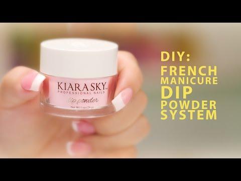 DIY: Kiara Sky French Manicure Dip Powder System