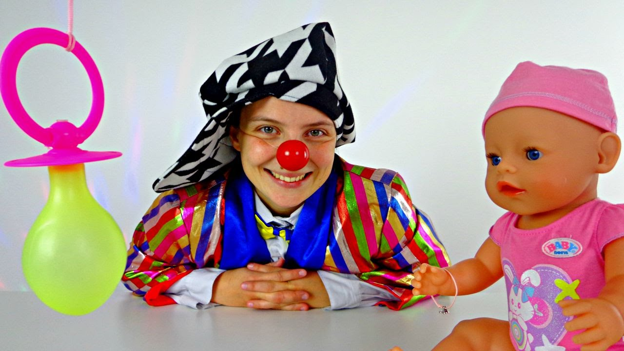 le clown funny clown videos for kids clown playing with baby