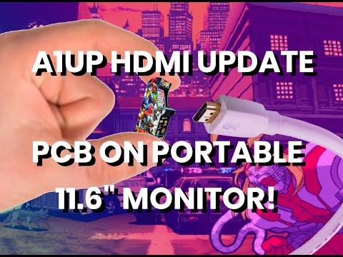Arcade1Up HDMI Quick Update: Geekworm + Portable Monitor Working! (See Description for others) from The Code Always Wins