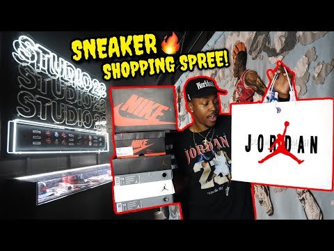 $750+ SNEAKER SHOPPING SPREE! INSIDE THE VIP JORDAN POP UP! NEW LIMITED SNEAKER PICKUPS & MORE!