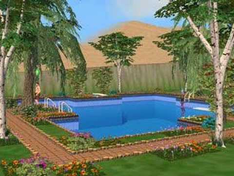 Oh la belle piscine youtube for Exterieur sims 4