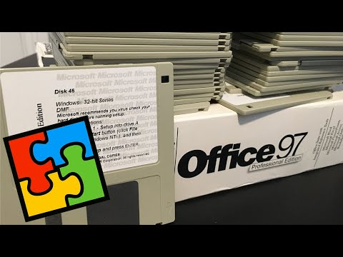 Installing Microsoft Office 97 From 46 Floppy Disks