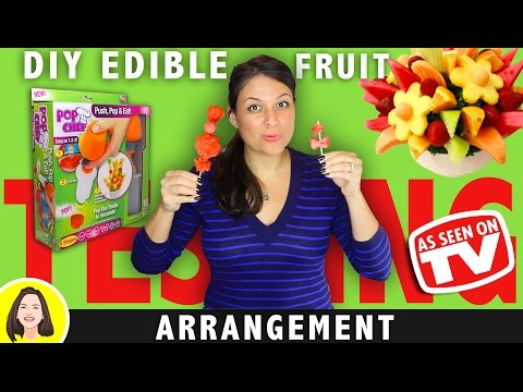 DIY EDIBLE ARRANGEMENTS POP CHEF REVIEW | TESTING AS SEEN ON TV PRODUCTS