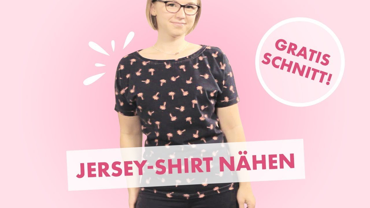 Nähanleitung Jersey T-Shirt in 10 Minuten mit Overlock oder ...