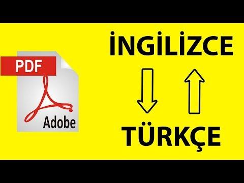 PDF Dosyasının Dilini Değiştirme