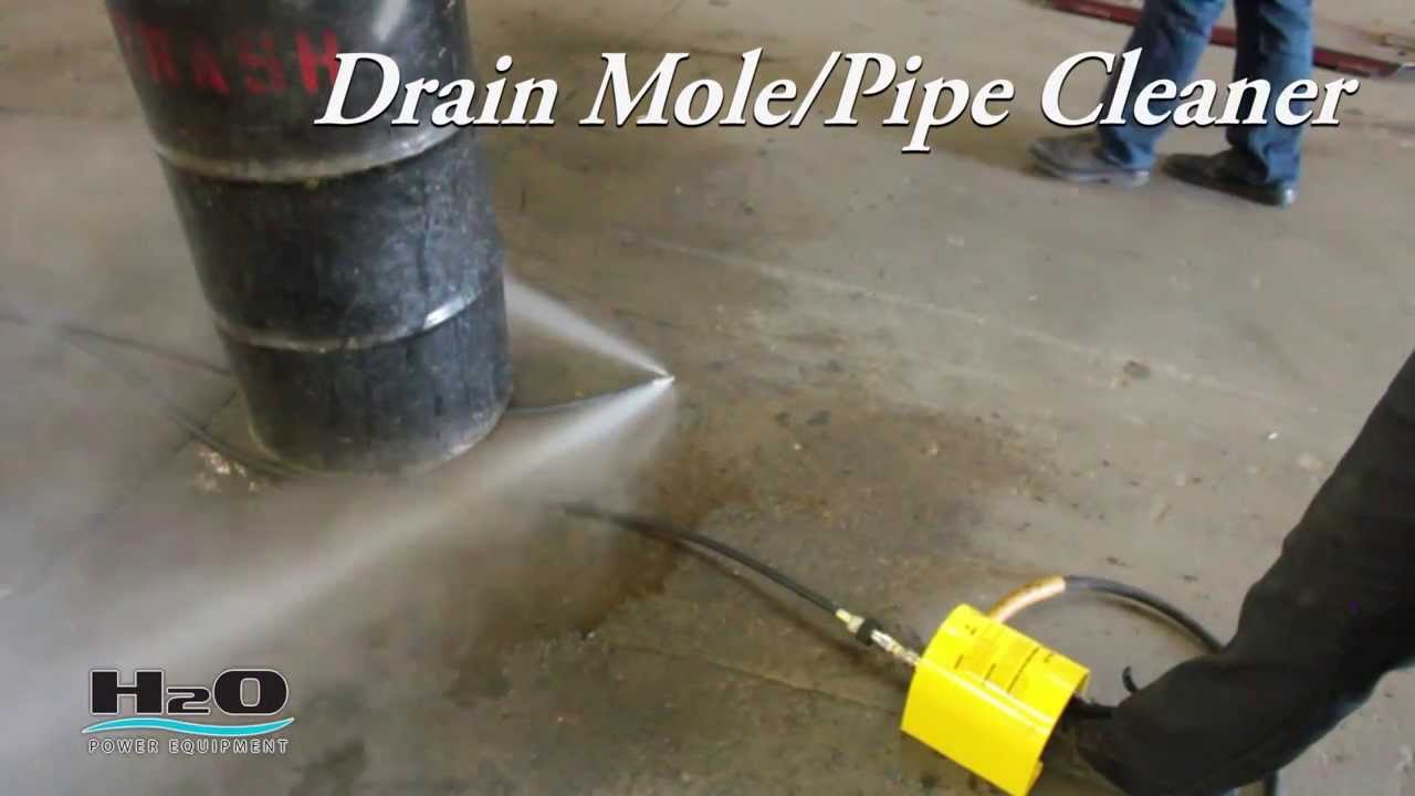 High pressure water jet drain pipe cleaning - Drain Mole Pipe Cleaner Pressure Washers Power Washers Plumbing Accessories And Tools Youtube