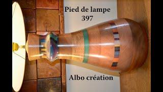TOURNAGE GROS PIED DE LAMPE EN VALCHROMAT - 397