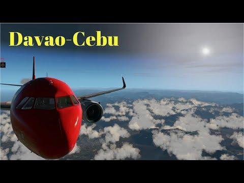 X-PLANE 11 | Airbus 320 | Davao to Cebu Flight | HD