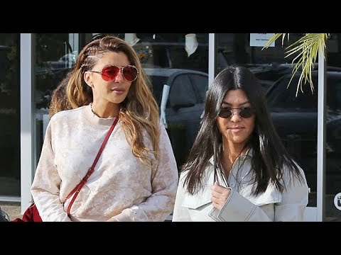 Kourtney Kardashian And Larsa Pippen Take The Kids To Color Me Mine