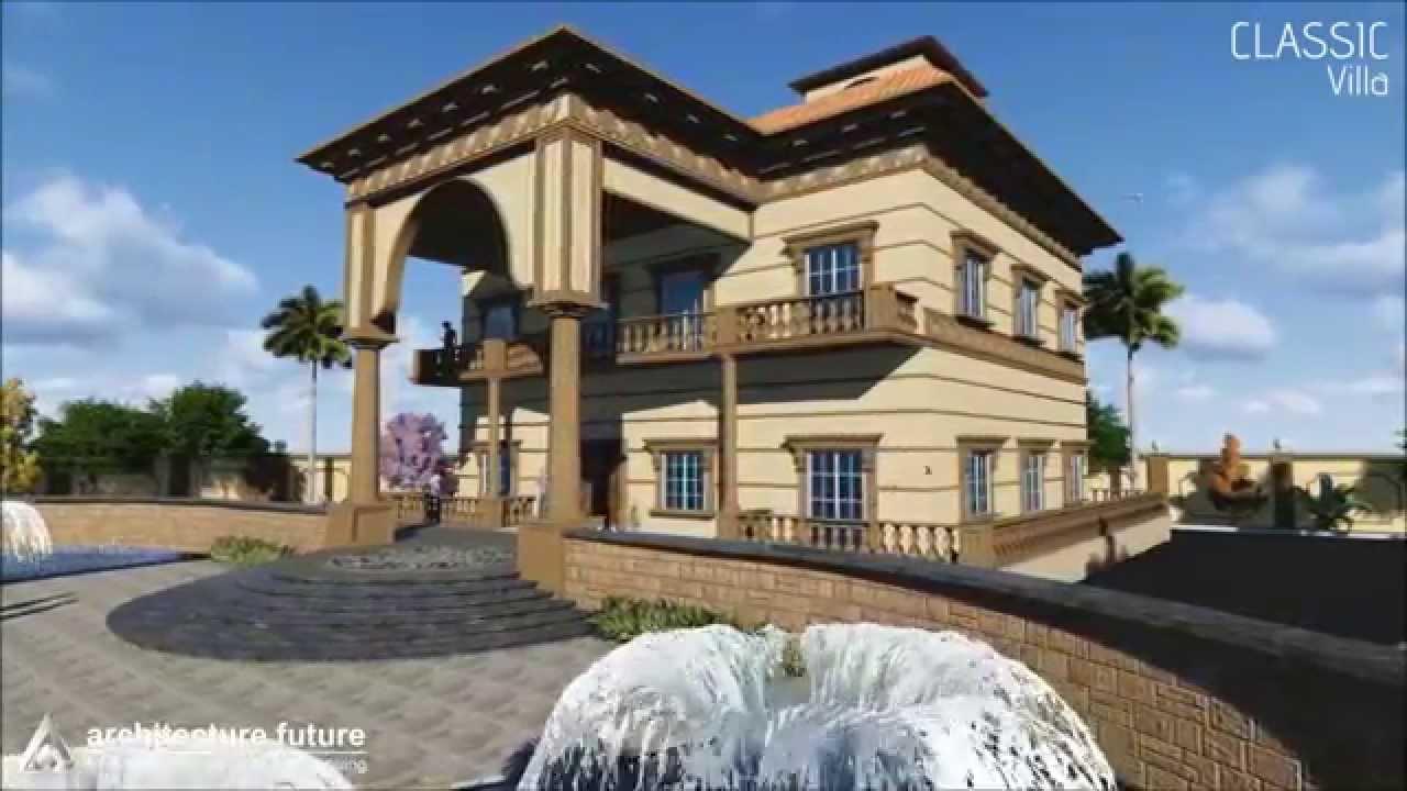Architecture future classic villa youtube for Classic villa design