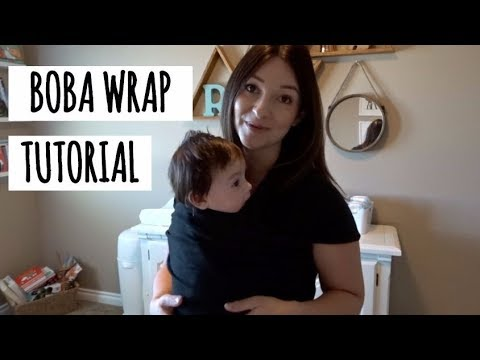 How To Tie Your Boba Baby Wrap Youtube