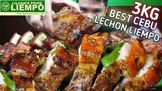 3KG OF THE BEST CEBU LECHON LIEMPO By Liloan's Pride Liempo | PUTOK BATOK SOLO MUKBANG