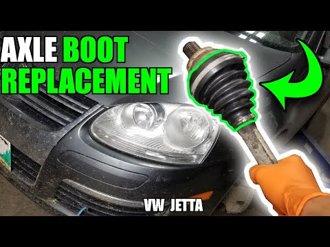 how to replace a cv axle boot on a jetta