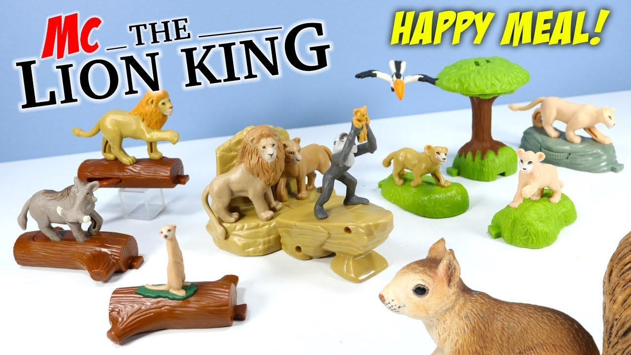 The Lion King Mcdonalds Happy Meal Toys Build A Scene Full Set 2019 Youtube