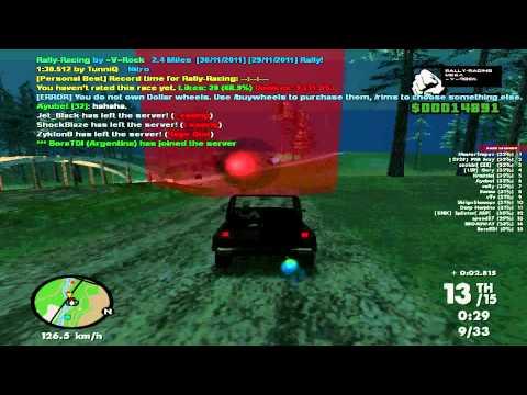 gta samp part 6 : race with my car of mesa