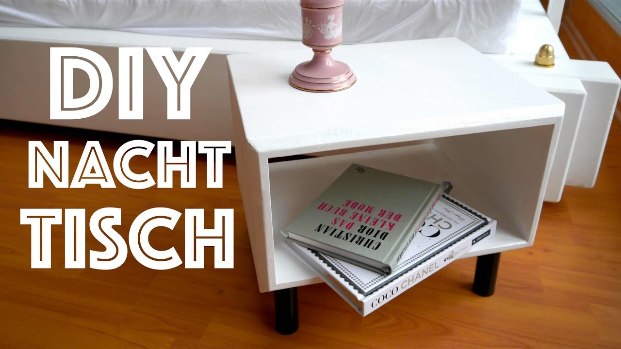 diy shabby chic table nachttisch selber bauen anleitung deutsch german youtube. Black Bedroom Furniture Sets. Home Design Ideas