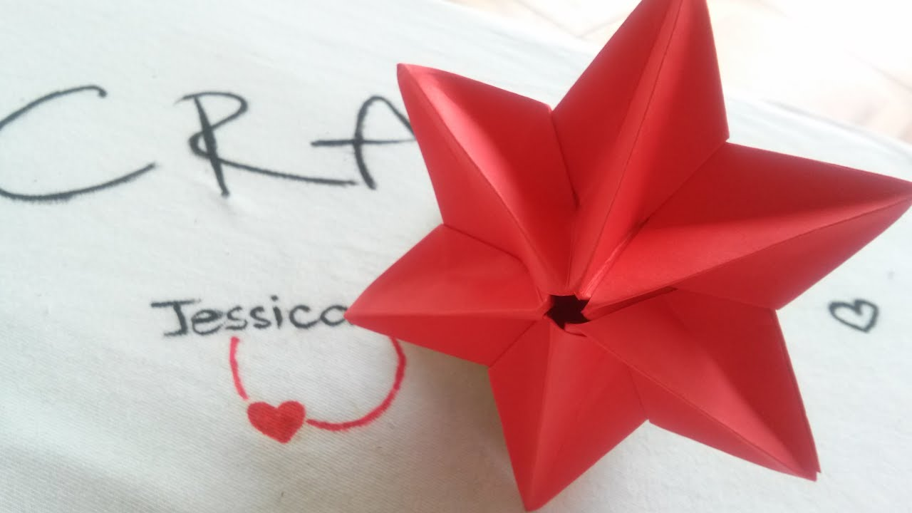 Origami easy 3d star origami star youtube for How to make 3d paper stars easy