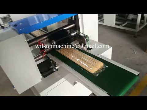 Bamboo Skewer Counting And Packing Machine Bamboo Sticks Packing Machine