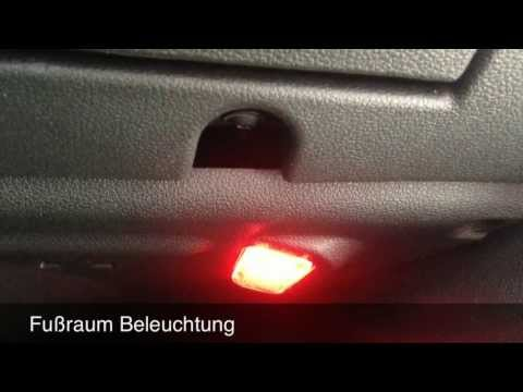 umbau auf led innen seat leon 5f youtube. Black Bedroom Furniture Sets. Home Design Ideas