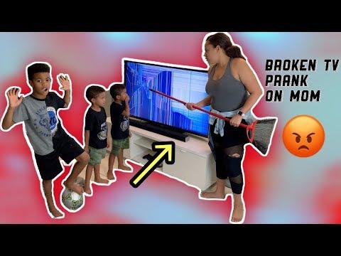 Epic Broken TV Prank On Mom 😱 😭 (MUST WATCH!!!)