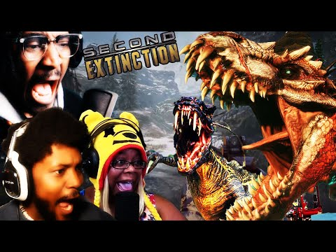THEY LET DINOSAURS EAT MY BUTT MEAT! w/ AyChristeneGames CoryxKenshin | SECOND EXTINCTION
