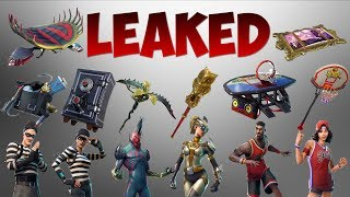 Fortnite New LEAKED Skins, Gliders, Back Bling, Emotes, Harvesting Tools and MORE!