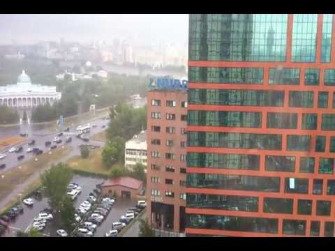 What is it like a Rainy Weather in Astana, Kazakhstan