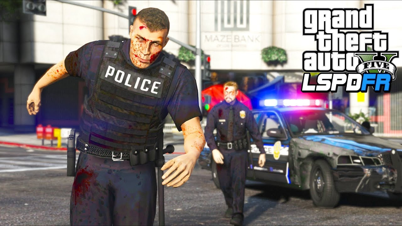 I became a ZOMBIE COP!! (GTA 5 Mods - LSPDFR Gameplay)