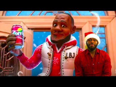 LeBron James' Sprite Christmas Commercial, Cranberry Animated -  NBA REACTION