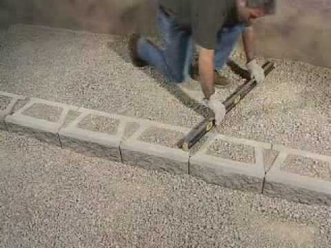 How to build stairs in stone block wall youtube