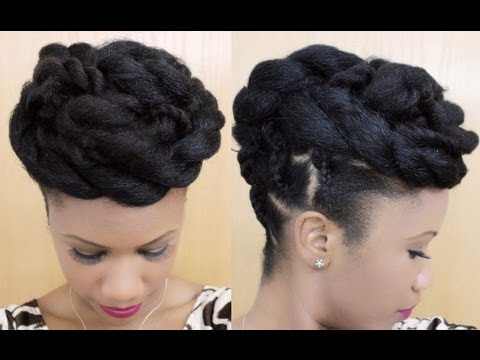 twisted goddess updo natural