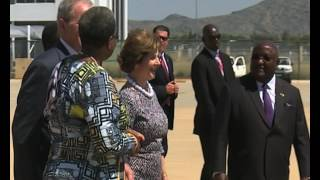 George W Bush arrives in Namibia for two day visit-NBC