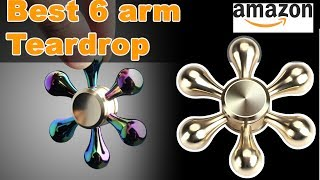 Best 6 sided $15 😲 fidget spinner.  Rainbow & Gold  fidget spinner review on amazon +Giveaway #63
