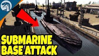 GIANT SUBMARINE BASE DESTROYED | Men of War: Assault Squad 2 Red Tide Gameplay