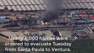thomas fire santa paula  thomas fire  santa paula fire map  ventura fire  california fire  fire map