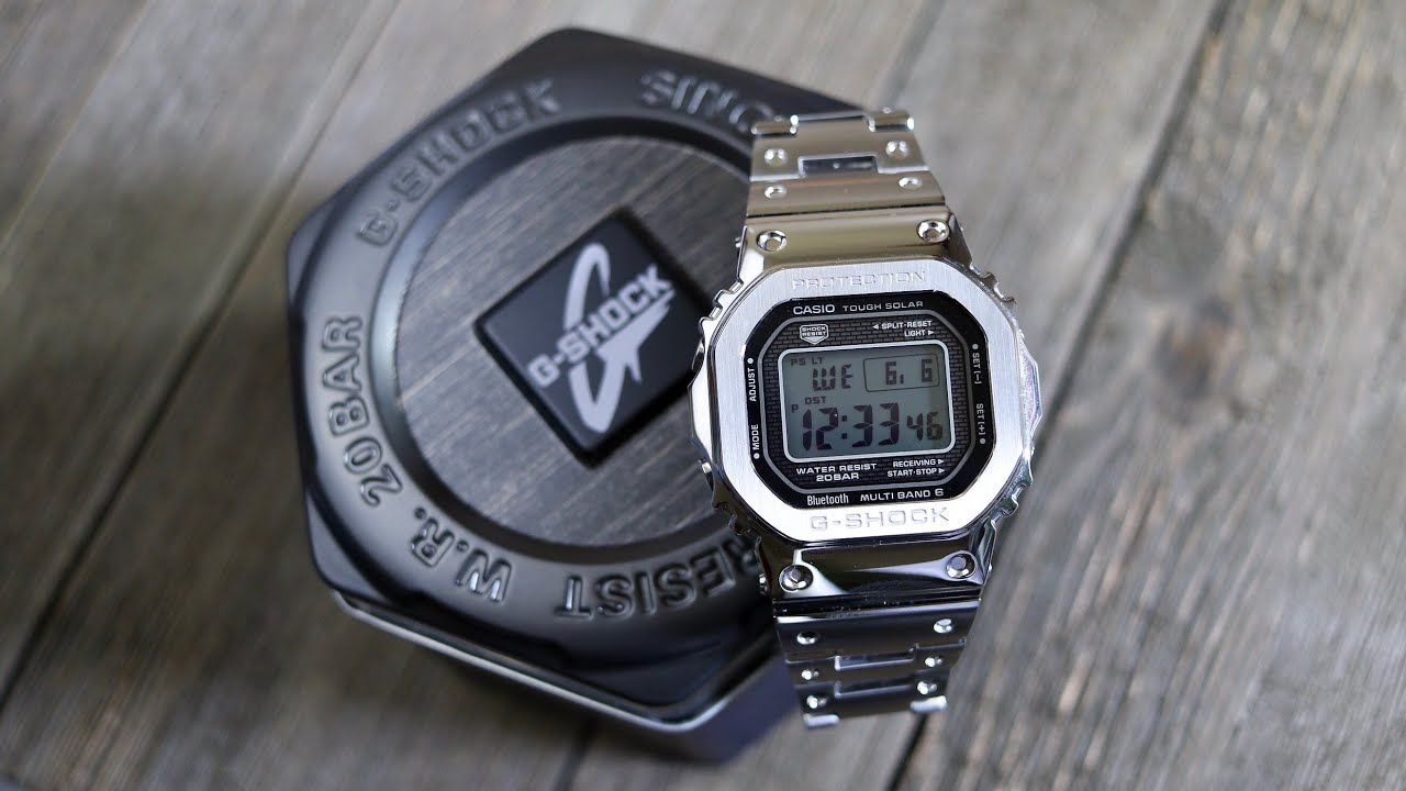 ce97a82f9 Casio G-Shock GMW-B5000 All Metal Square -Hands On Review - YouTube