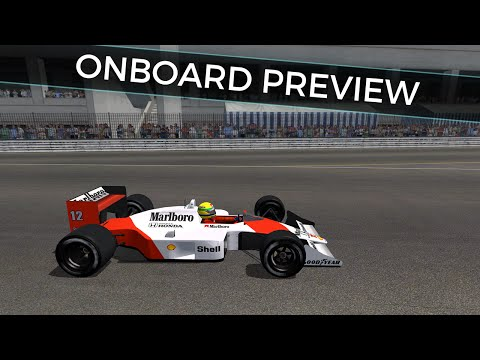 rFactor F1 1988: Detroit GP - Detroit Street Circuit onboard preview