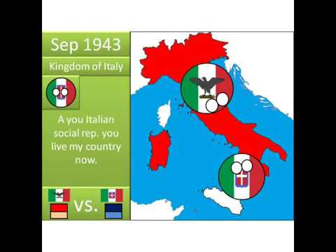 Italian Civil War in Countryballs